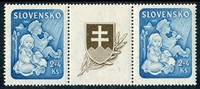 Buy Online - SLOVAKIA, STAMPS, 1944 CHILD WELFARE (024319)